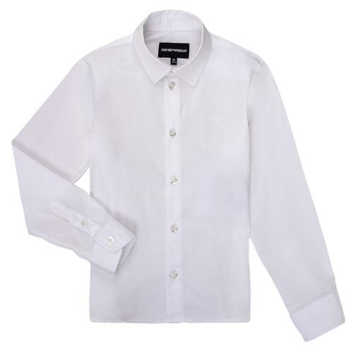 Clothing Boy Long-sleeved shirts Emporio Armani 8N4CJ0-1N06Z-0100 White