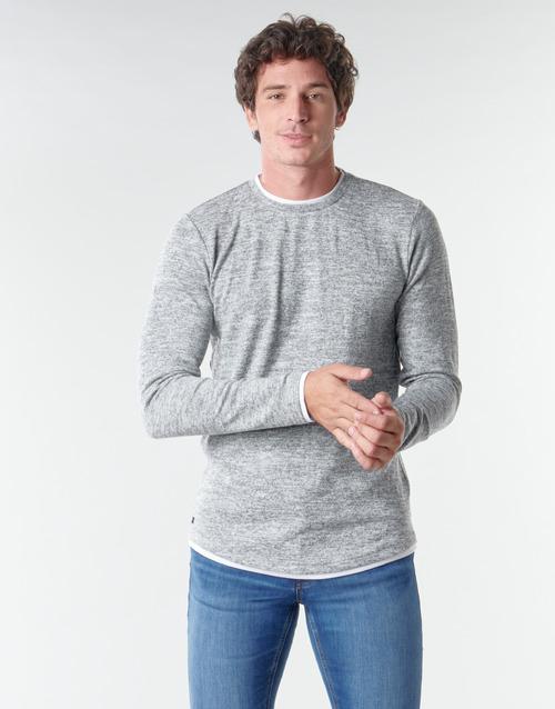 Clothing Men Long sleeved tee-shirts Deeluxe MOHANSON Grey