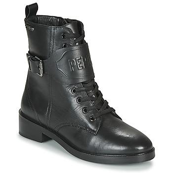 Shoes Women Mid boots Pepe jeans MALDON LOGO Black