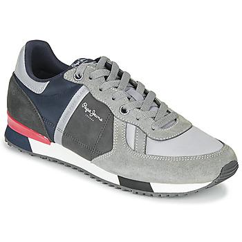 Shoes Men Low top trainers Pepe jeans TINKER ZERO SECOND Grey / Bordeaux