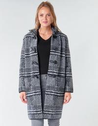 Clothing Women Coats Derhy SAISON Grey / Black