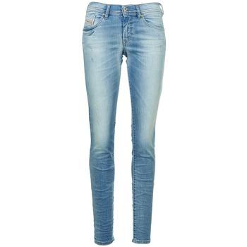 Clothing Women slim jeans Diesel FRANCY Blue / Clear