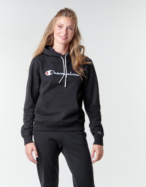 Clothing Women Sweaters Champion HEAVY COMBED COTTON FLEECE Black