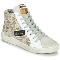 Shoes Women Hi top trainers Meline NK5050 Beige / Leopard