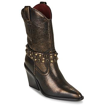 Shoes Women Ankle boots Bronx NEW KOLE Black / Gold