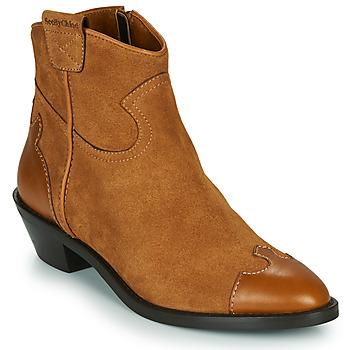 Shoes Women Ankle boots See by Chloé VEND Cognac
