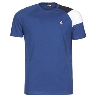 Clothing Men Short-sleeved t-shirts Le Coq Sportif ESS TEE SS N°10 M Blue