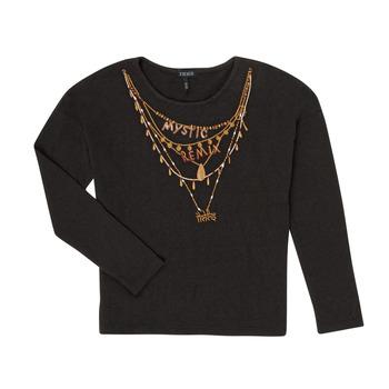 Clothing Girl Long sleeved tee-shirts Ikks XR10122 Black