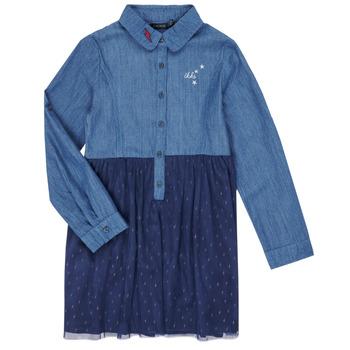 Clothing Girl Short Dresses Ikks XR30122 Blue