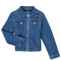 Clothing Girl Denim jackets Ikks XR40052 Blue