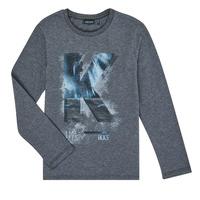 Clothing Boy Long sleeved tee-shirts Ikks XR10203 Grey