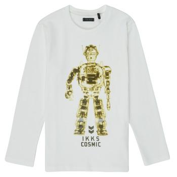 Clothing Boy Long sleeved tee-shirts Ikks XR10233 White