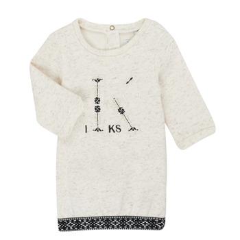 Clothing Girl Short Dresses Ikks XR30180 Beige