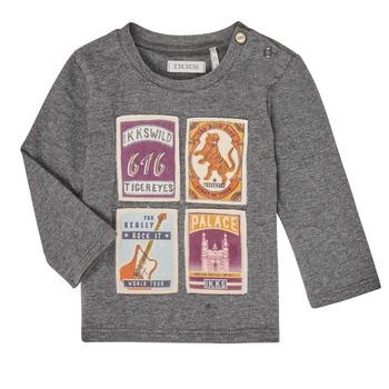 Clothing Boy Long sleeved tee-shirts Ikks XR10081 Grey