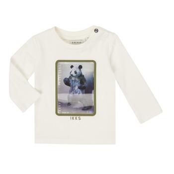 Clothing Boy Long sleeved tee-shirts Ikks XR10101 White