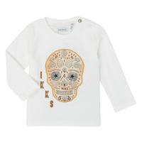 Clothing Boy Long sleeved tee-shirts Ikks XR10141 White