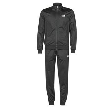 Clothing Men Tracksuits Emporio Armani EA7 TRAIN CORE ID M T-SUIT TT FZ CH PL Black
