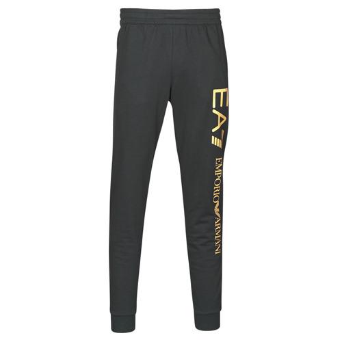 Clothing Men Tracksuit bottoms Emporio Armani EA7 TRAIN LOGO SERIES M PANTS Black