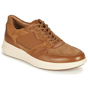 Shoes Men Low top trainers Clarks UN GLOBE RUN Camel