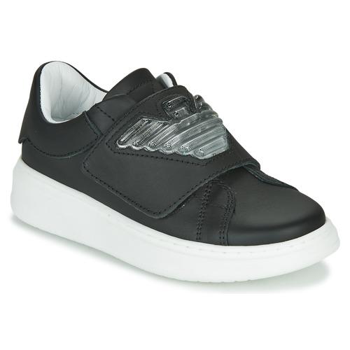 Shoes Children Low top trainers Emporio Armani XYX014-XOI08 Black