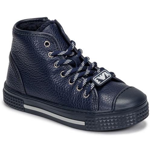 Shoes Children Hi top trainers Emporio Armani XYZ004-XOI25 Marine