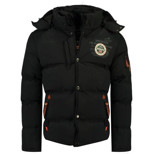 Clothing Boy Duffel coats Geographical Norway VERVEINE BOY Black