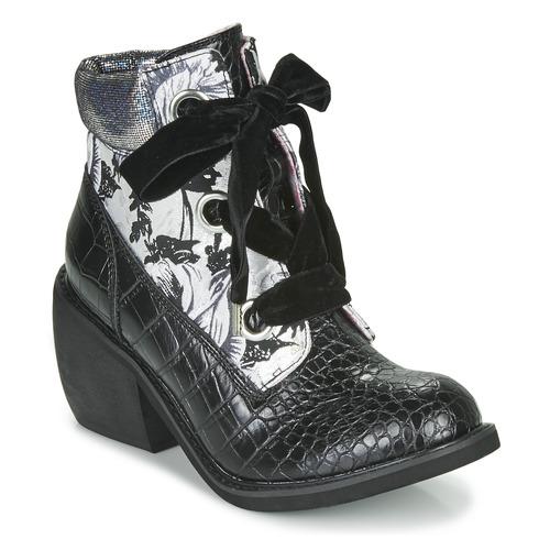 Shoes Women Mid boots Irregular Choice SCARPER Black