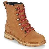 Shoes Women Mid boots Sorel LENNOX LACE Brown