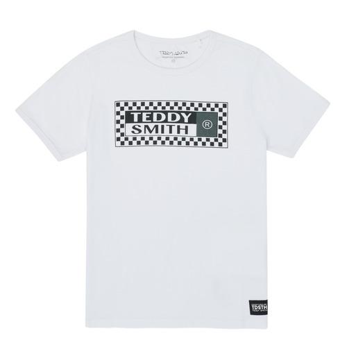 Clothing Boy Short-sleeved t-shirts Teddy Smith VANY White