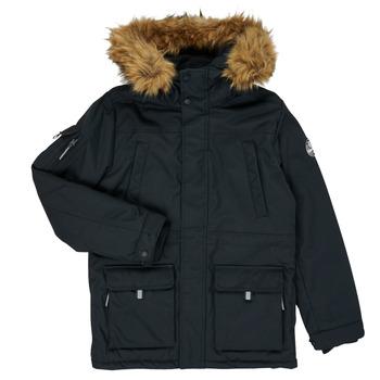 Clothing Boy Parkas Teddy Smith KILIAN Black