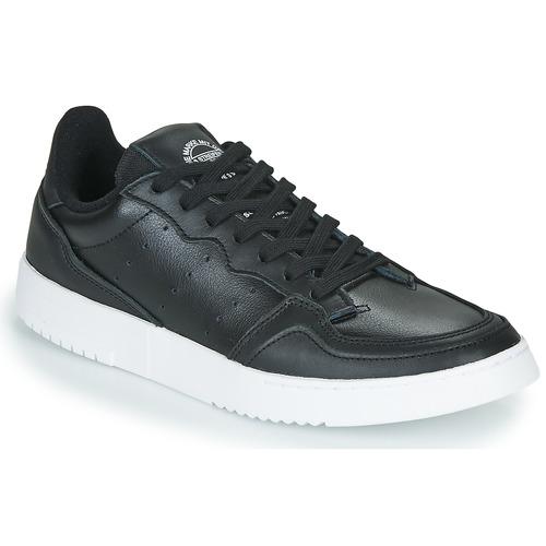 Shoes Low top trainers adidas Originals SUPERCOURT Black
