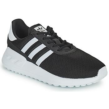 Shoes Children Low top trainers adidas Originals LA TRAINER LITE C Black / White