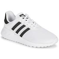Shoes Children Low top trainers adidas Originals LA TRAINER LITE J White / Black