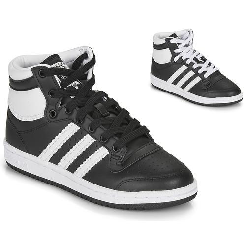 Shoes Children Low top trainers adidas Originals TOP TEN J Black / White