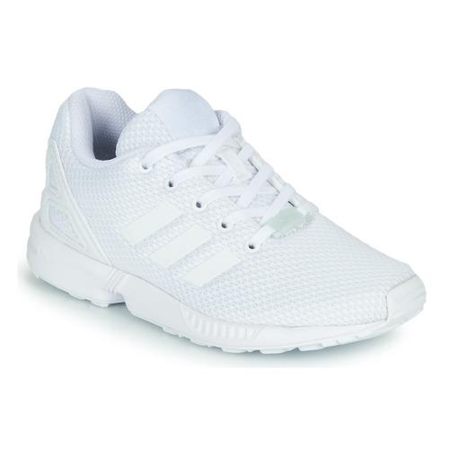Shoes Children Low top trainers adidas Originals ZX FLUX C White
