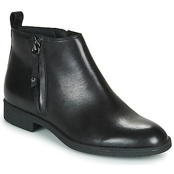 Shoes Women Ankle boots Geox JAYLON Black