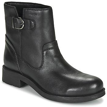 Shoes Women Mid boots Geox RAWELLE Black