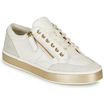 Shoes Women Low top trainers Geox LEELU White