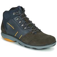 Shoes Men Mid boots Geox NEBULA 4 X 4 B ABX Marine / Brown
