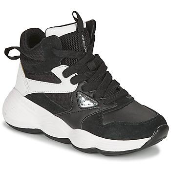 Shoes Girl Hi top trainers Geox BUBBLEX Black / White