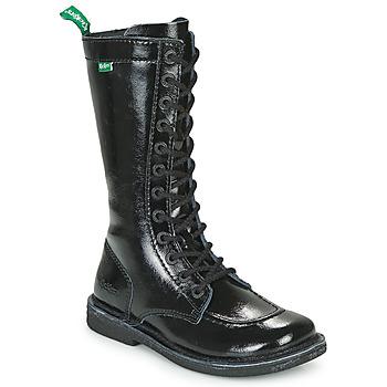 Shoes Women High boots Kickers MEETKIKNEW Black / Patent