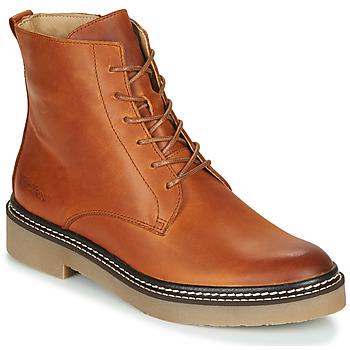 Shoes Women Mid boots Kickers OXIGENO Camel / Orange