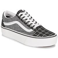 Shoes Women Low top trainers Vans OLD SKOOL PLATFORM Grey