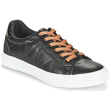 Shoes Women Low top trainers Le Temps des Cerises VIC Black