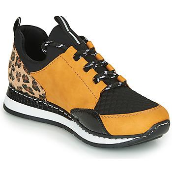 Shoes Women Low top trainers Rieker TENUA Cognac / Black