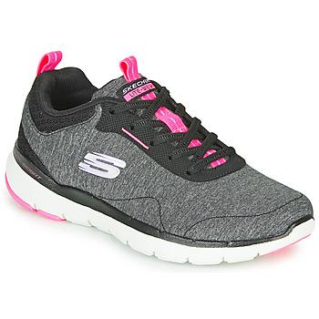 Shoes Women Fitness / Training Skechers FLEX APPEAL 3.0 Grey / Black / Pink