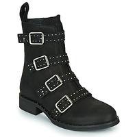 Shoes Women Mid boots Ikks URBAN RANGERS Black