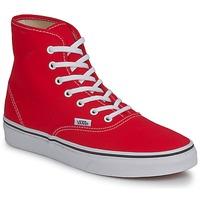 Shoes Women Hi top trainers Vans AUTHENTIC HI Red