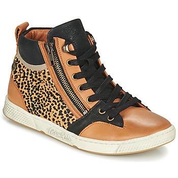 Shoes Women Hi top trainers Pataugas JULIA/PO F4F Cognac / Leopard
