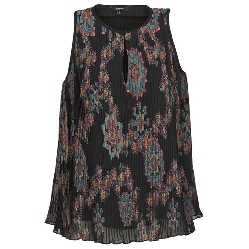 Clothing Women Tops / Sleeveless T-shirts Desigual MIRA Blue